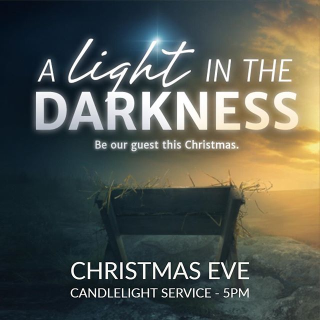 Be our guest this Christmas Eve at 5pm and hear about a child who came to bring the light of forgiveness and peace to a darkened world.
