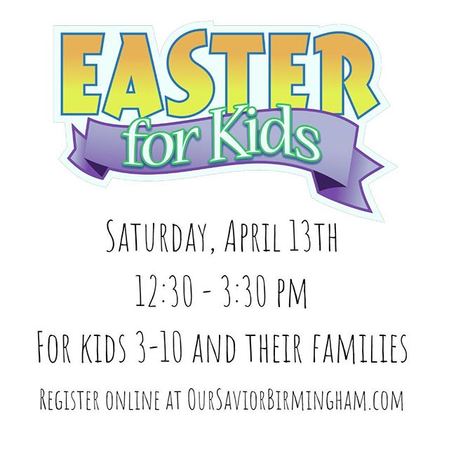 You're invited to celebrate the joy of Easter with your kids! April 13th from 12:30pm-3:30pm