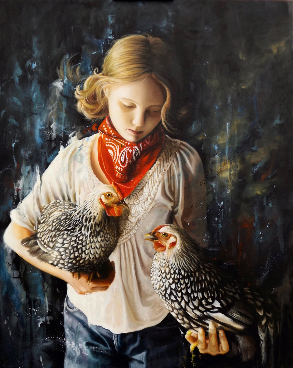 Grace With Chickens