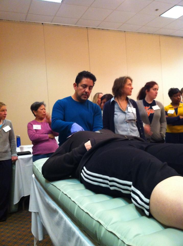 Here of my favorite Craniosacral Teachers Eric Moya demonstrates CST mouth work.