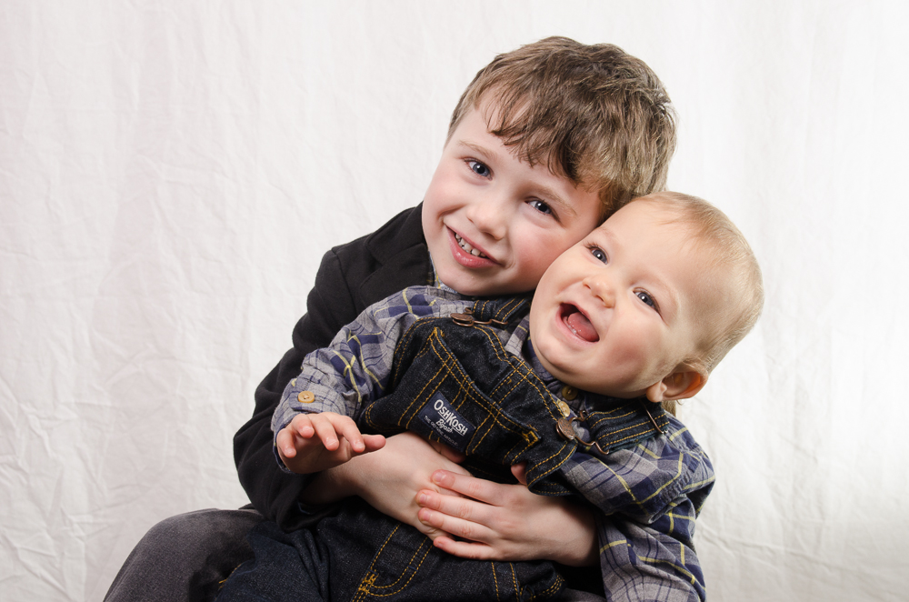 The parents wanted a shot of their two little boys and this is the one that they picked to take home with them! They slowly started to tip over to camera right and we were able to capture these great expressions before having to intervene! Don't worry, no one took a tumble.