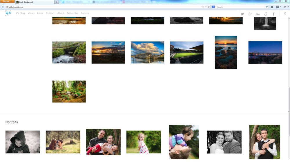 Screenshot of the Grid thumbnail layout for the galleries.