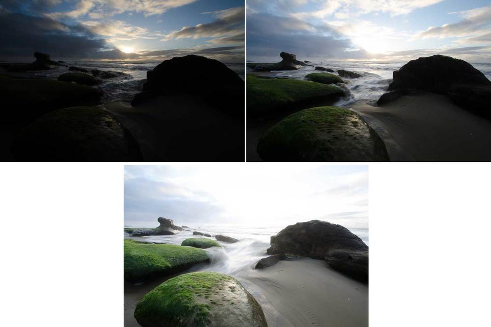 These are the 3 original exposures taken directly from the camera and are the files included in the download link above for you to use.