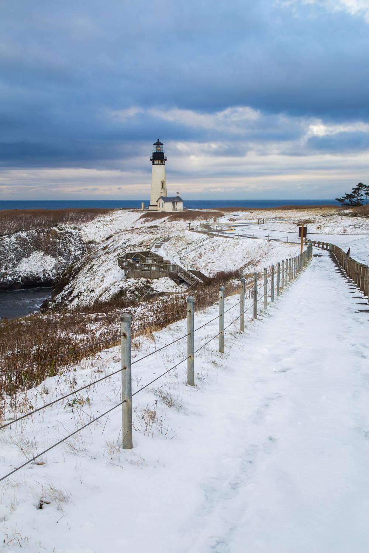 Yaquina Head Lighthouse Snowy Beach 2013-1.jpg