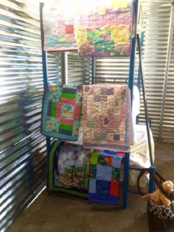 Here are two pictures of our quilts in Guatemala! The children who received them were told by Pastor Lida how much God loved them.