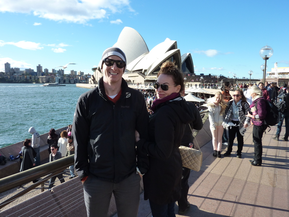 Mark and Lisa in front of the Opera House