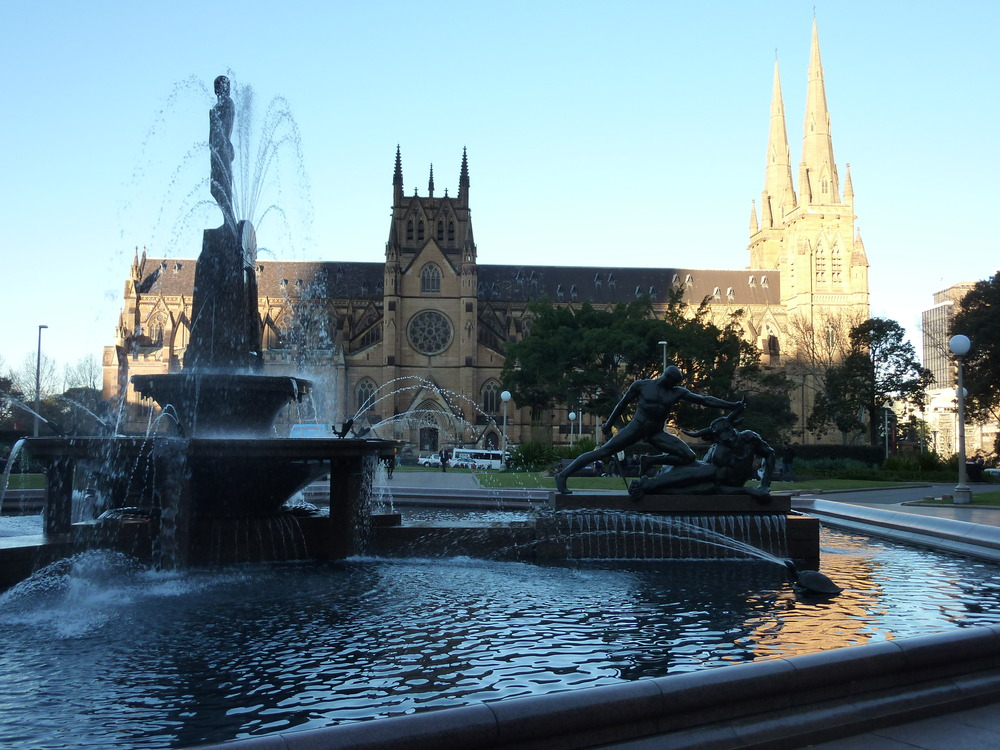 View from Hyde Park to St. Mary's Cathedral