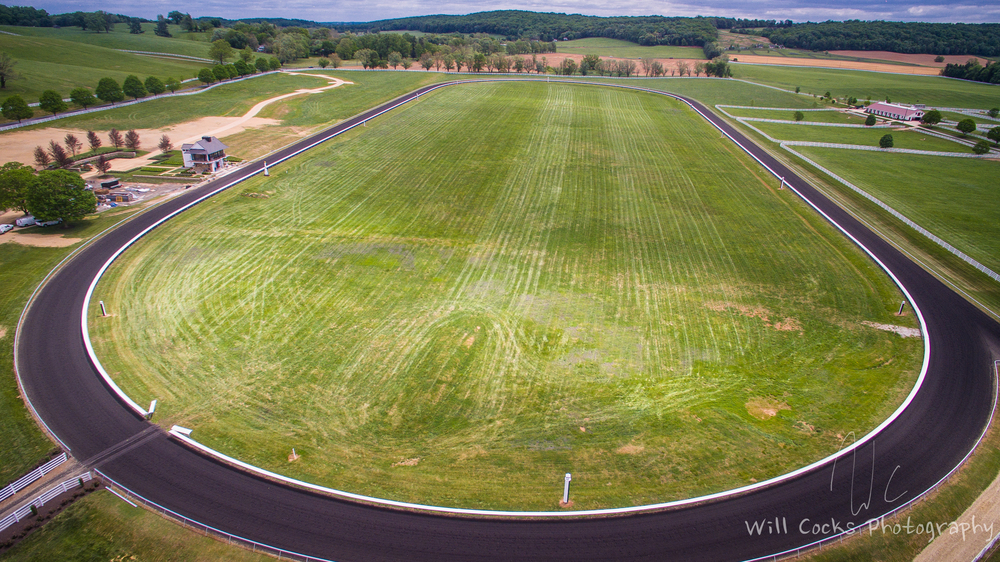A View of Sagamore's Six Furlong(3/4 Mile) Track