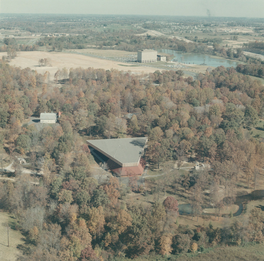 Merriweather Post Pavilion in 1967(Photo courtesy of The Columbia Archives)