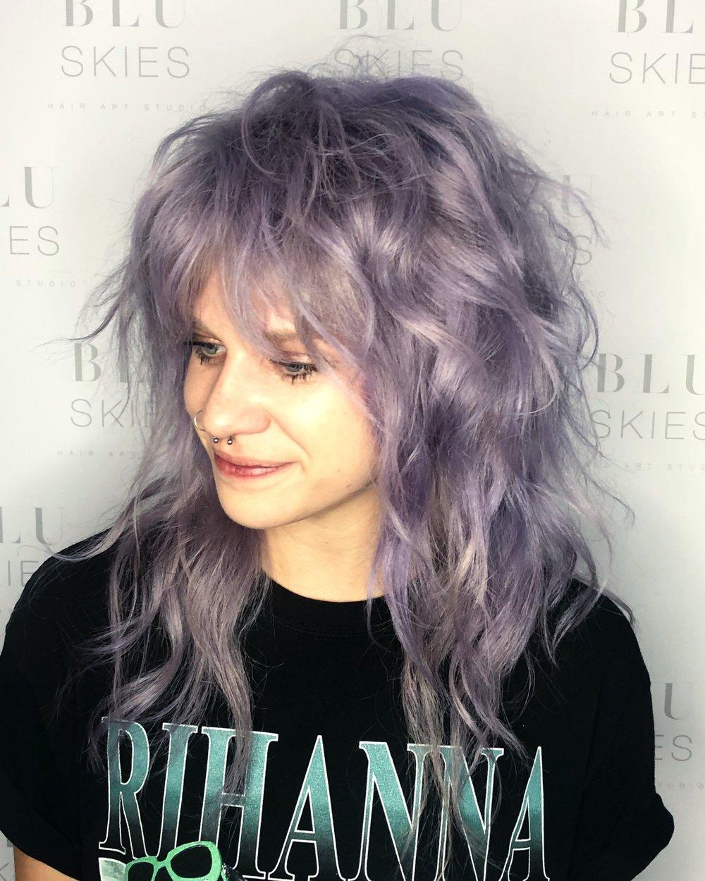 Vivid Coloring & Haircut