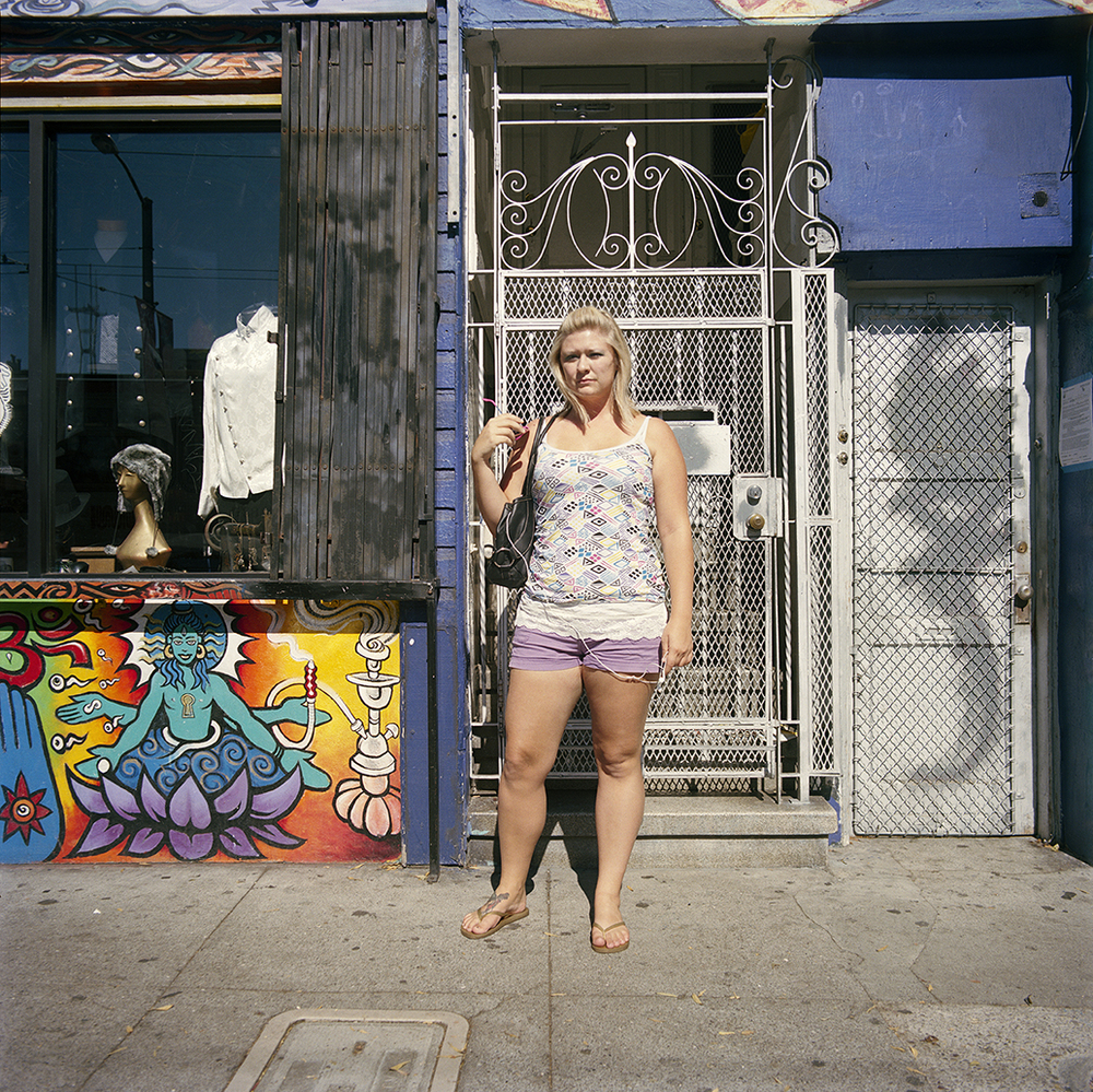 Woman in Purple Shorts  ,  2010  Chromogenic Print 25 x 25 in Edition of 10