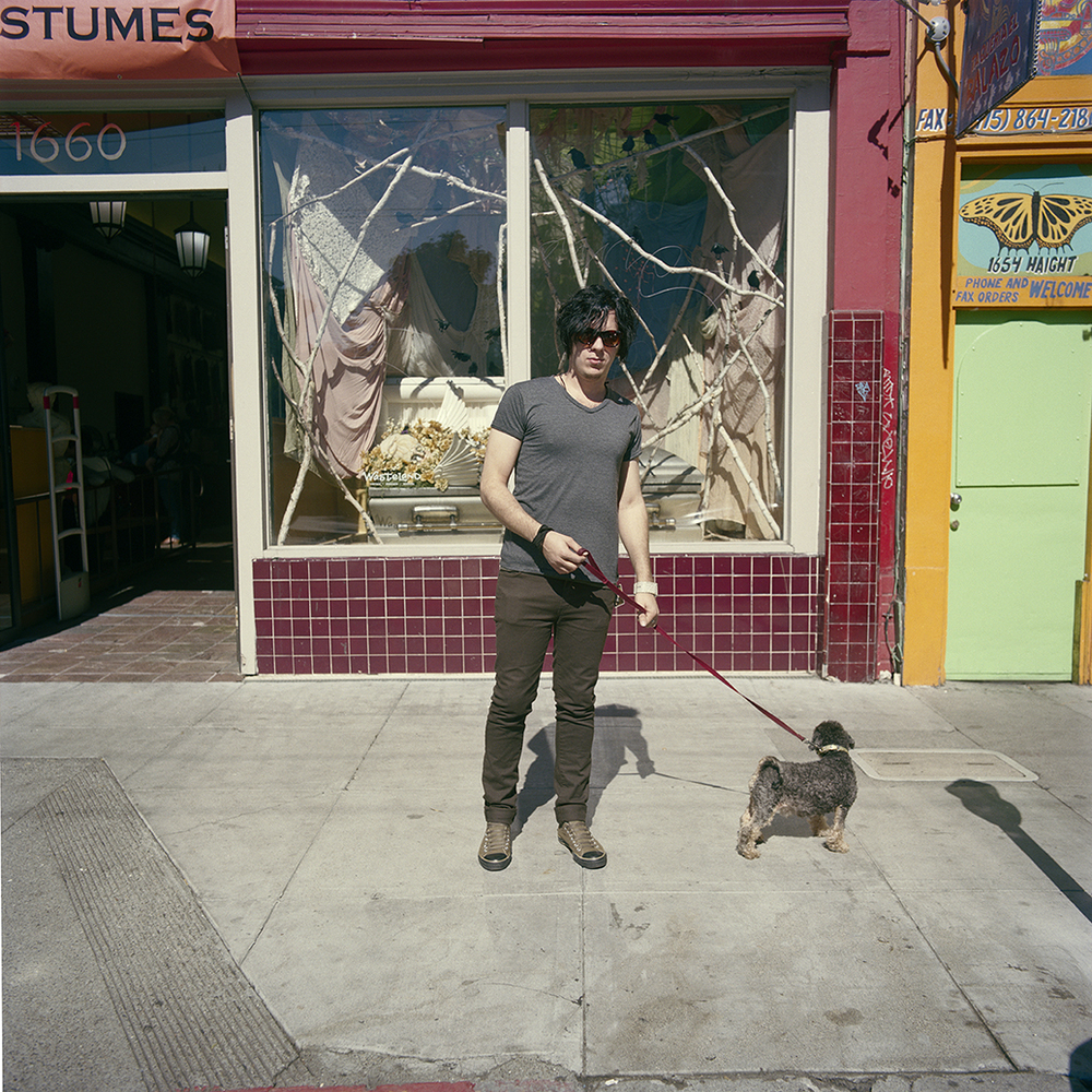 Man with Dog,  2010  Chromogenic Print 25 x 25 in Edition of 10