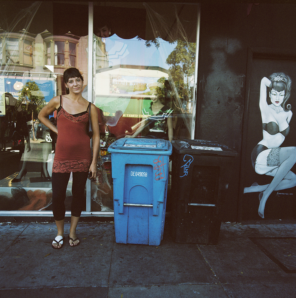 Girl Next to Mural,  2010  Chromogenic Print 23 x 23 in Edition of 10