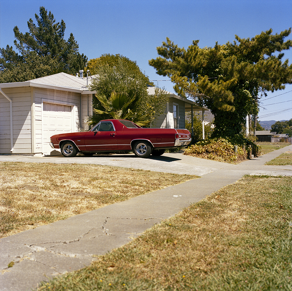 Suburb Study with El Camino,  2010  Chromogenic Print 11 x 11 in Edition of 10