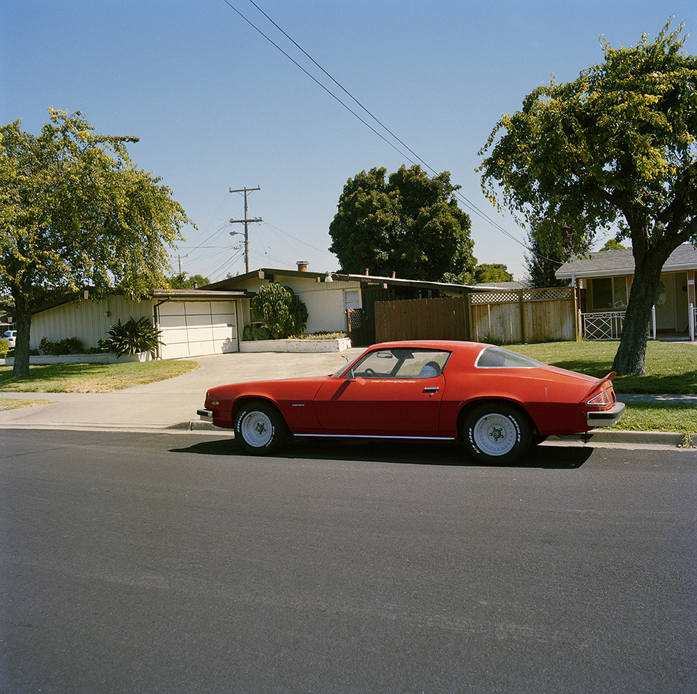 Suburb Study with Red Camaro,  2010  Chromogenic Print 23 x 23 in Edition of 10