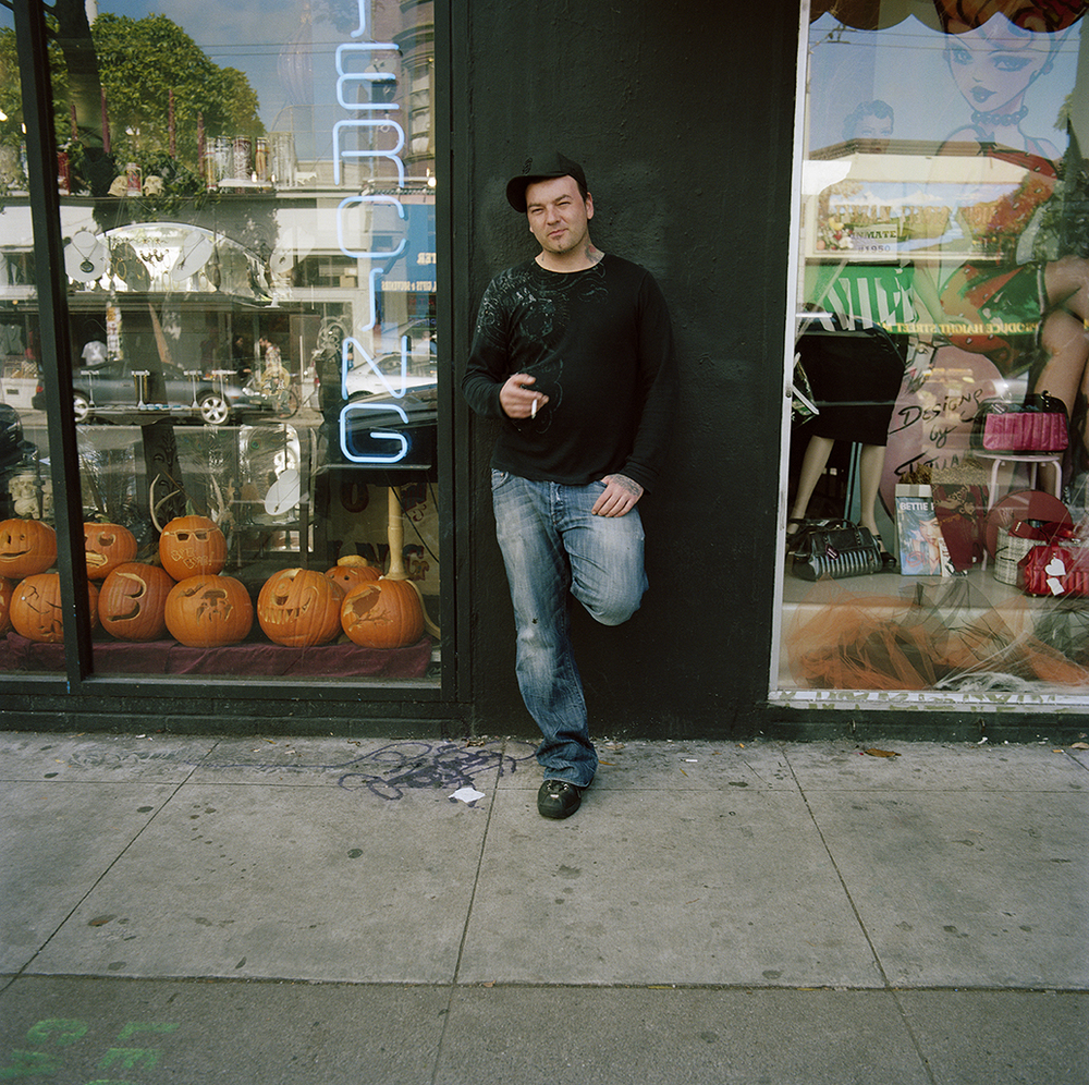 Man with Pumpkins,  2010  Chromogenic Print 23 x 23 in Edition of 10