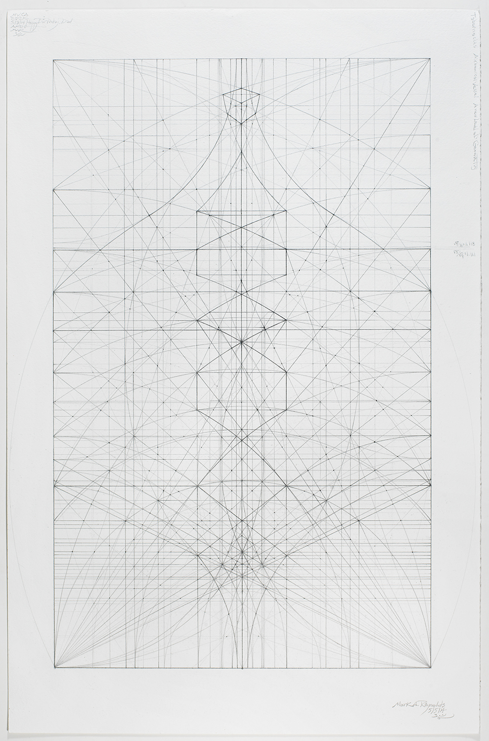 The 1.111 Series: 5.5.14, 2014   19.375 in. x 14.75 in. ( Sheet size 23 in. x 15 in.)   Graphite on cotton paper
