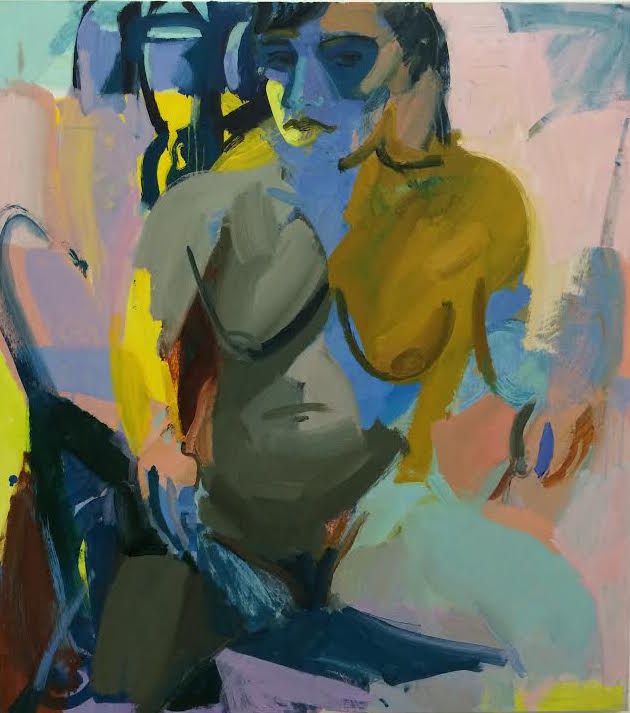 Seated Woman I, 2014 Oil and vinyl on canvas 42 x 38 inches
