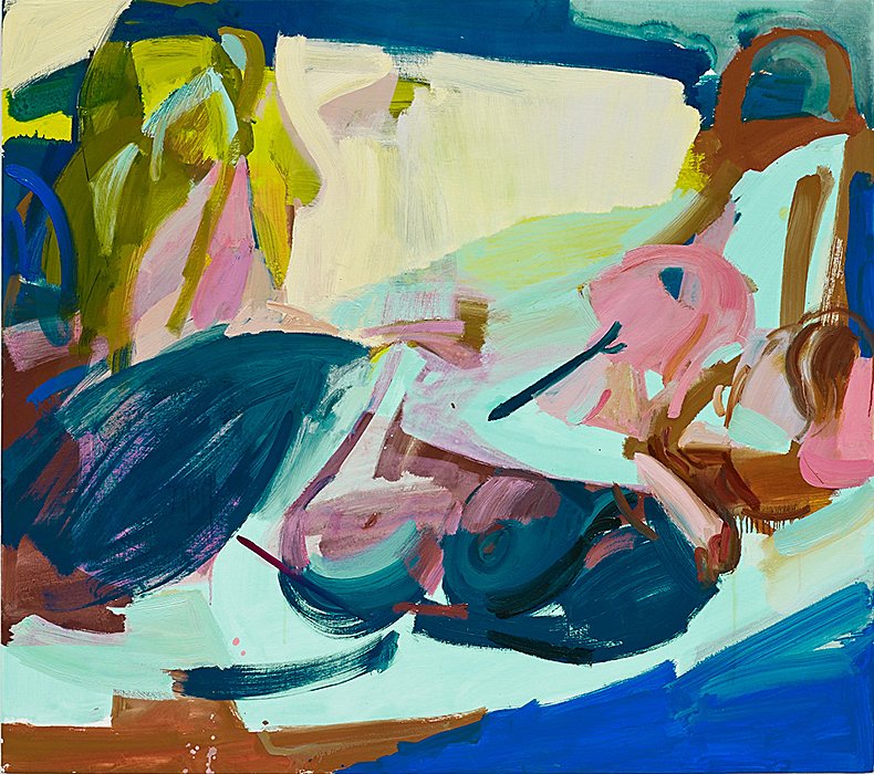 Reclining Woman, 2014 Oil and vinyl on canvas 48 x 54 inches SOLD