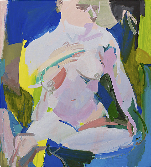 Seated Woman III, 2014 Oil and vinyl on canvas 42 x 38 inches