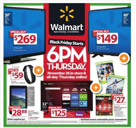 2015 Walmart Black Friday Ad
