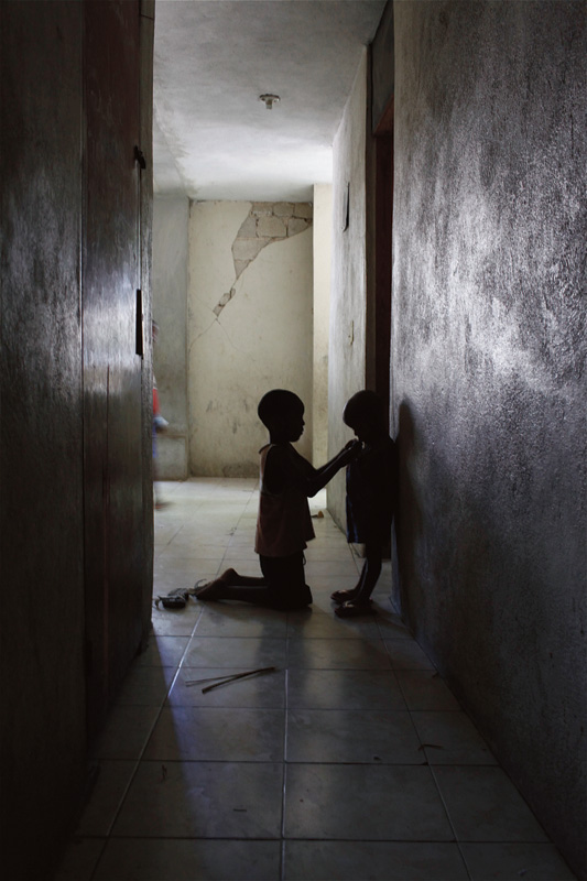 Abandoned and homeless children are left to fend for themselves.