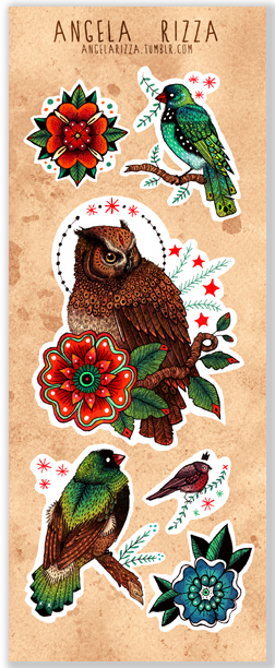 Angela Rizza_Owl and Birds_ds.jpg