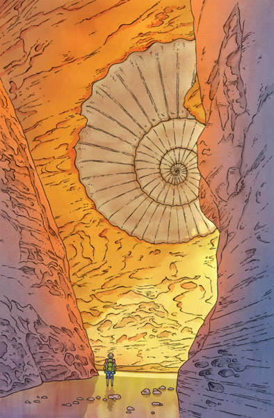 """AMMONITE CANYON"" BY SAGE EINARSEN"
