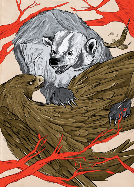 """BADGER AND EAGLE"" BY ARIEL ELLIOT"