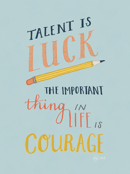 """Talent is Luck"" by Marloes de Vries"