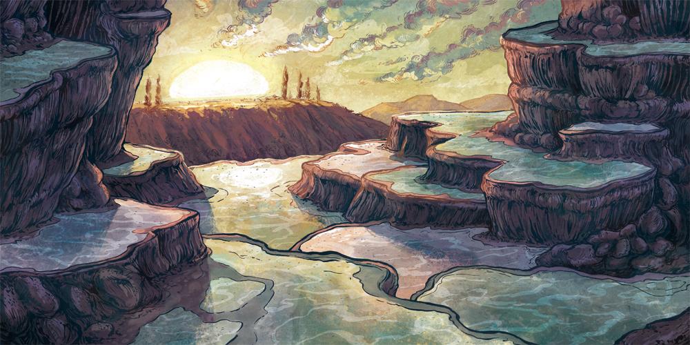 """Pamukkale Rock Pools"" by Casey Crisenbery"