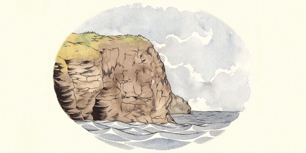"""Bell Island Cliff"" by Kelly Bastow"