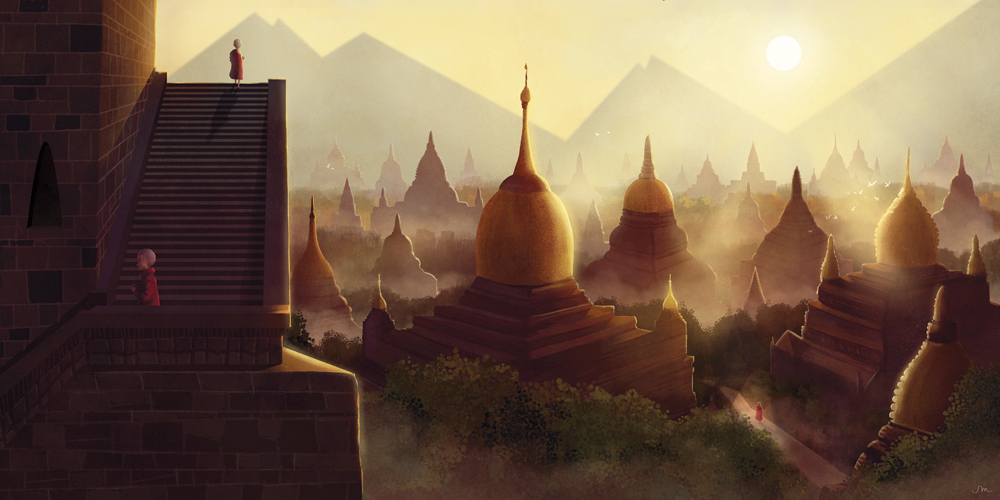 """The Bagan Temples""  by Sarah Marino"