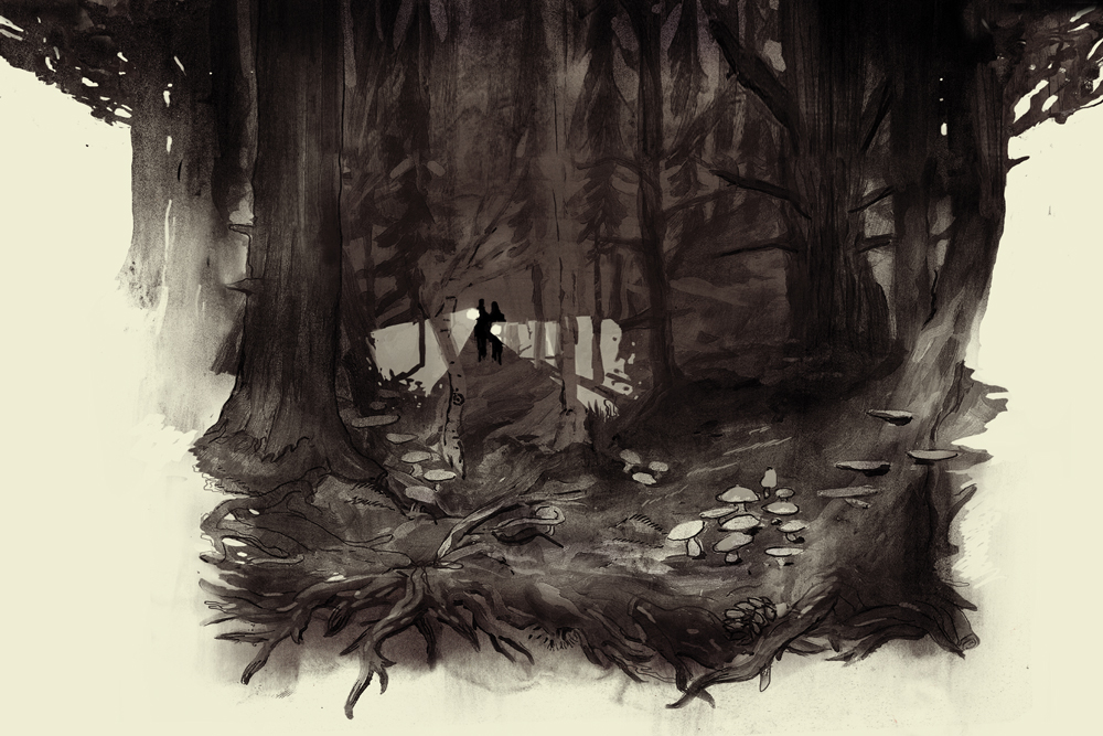 dusk woods  print - miko.jpg