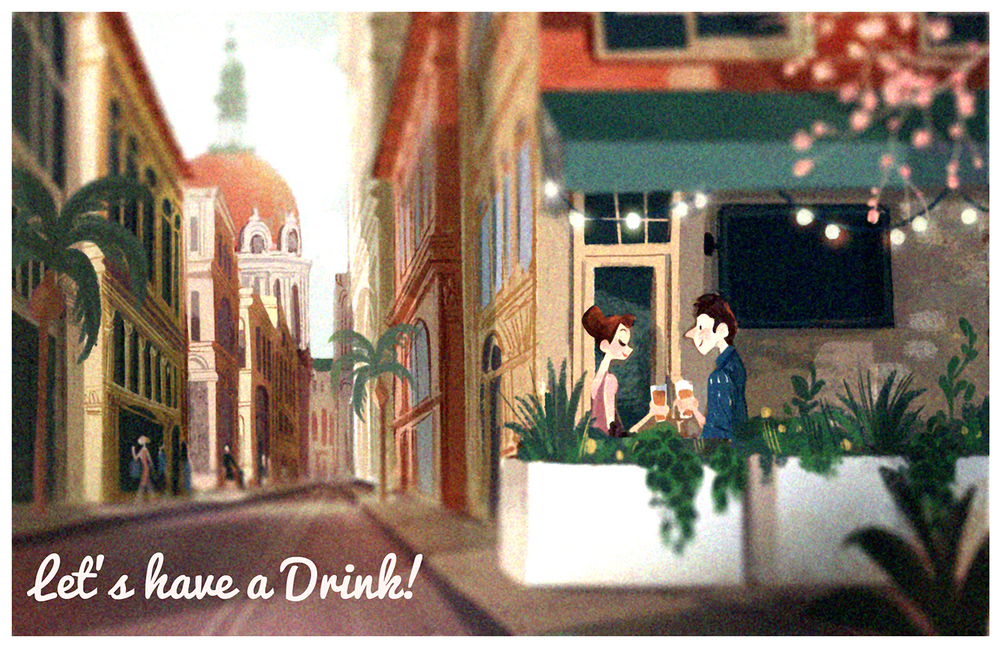 """Let's have a Drink!"" by Victoria Ying"
