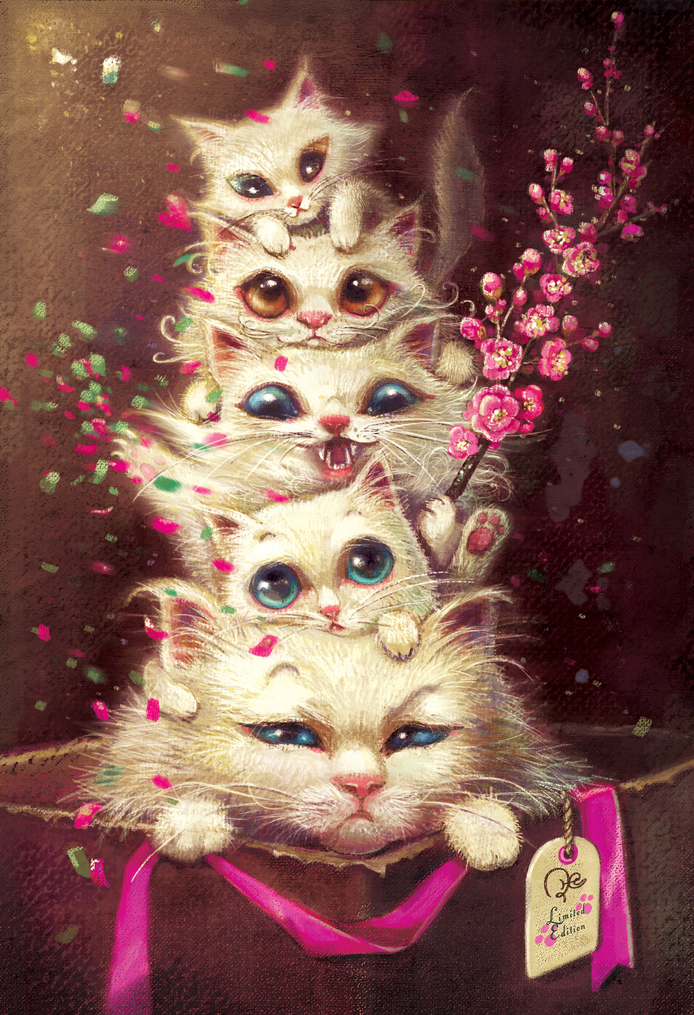 """Greetings from Cats"" by Phoenix Chan"