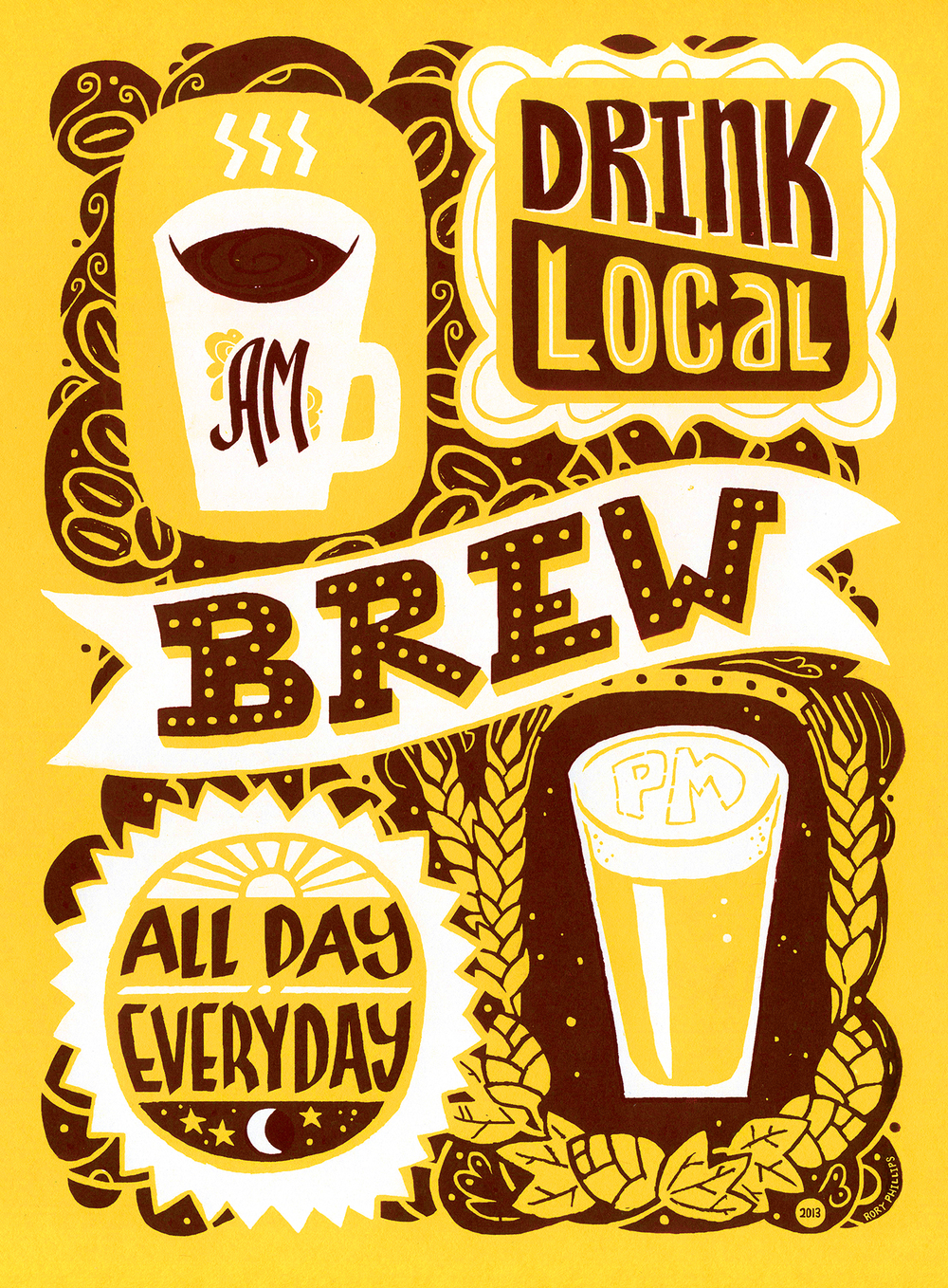 """Drink Local Brew"" by Rory Phillips"