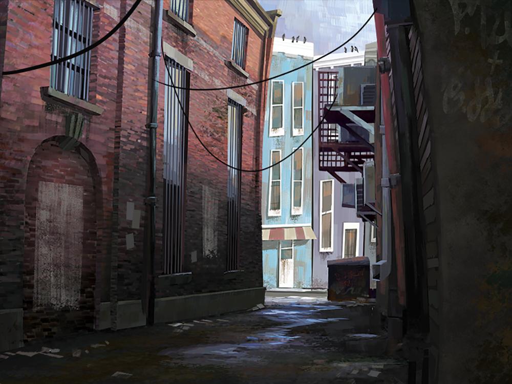 """Greasy Alleyway"" by Elise Hatheway"