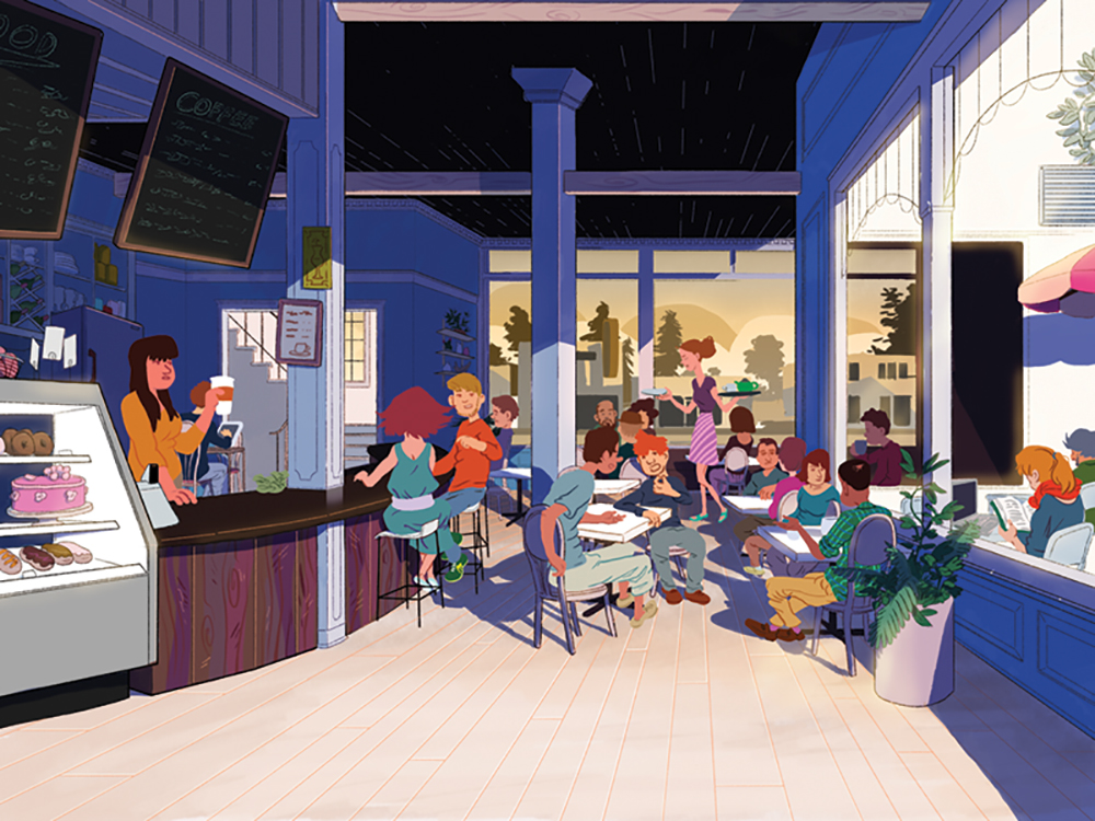"""Sparrow Street Cafe"" by Evan Palmer"