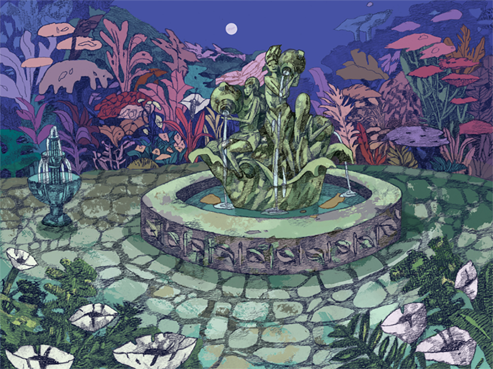 """Wishing Well Garden"" by Jenn Liv"