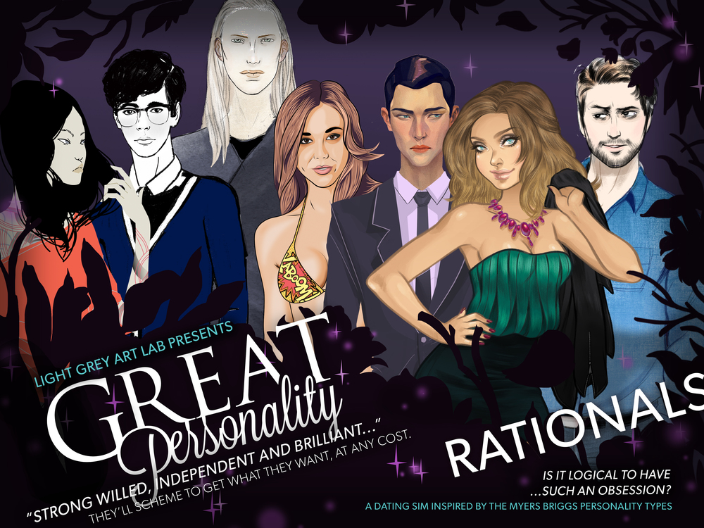 Great Personality: Rationals Game- Coming Soon!    Click here to view the Rationals Digital Gallery  (Spoilers!)