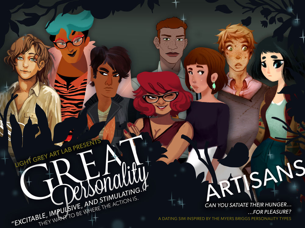 Great Personality Artisans Game- Coming Soon!    Click here to view the Artisans Digital Gallery  (Spoilers!)