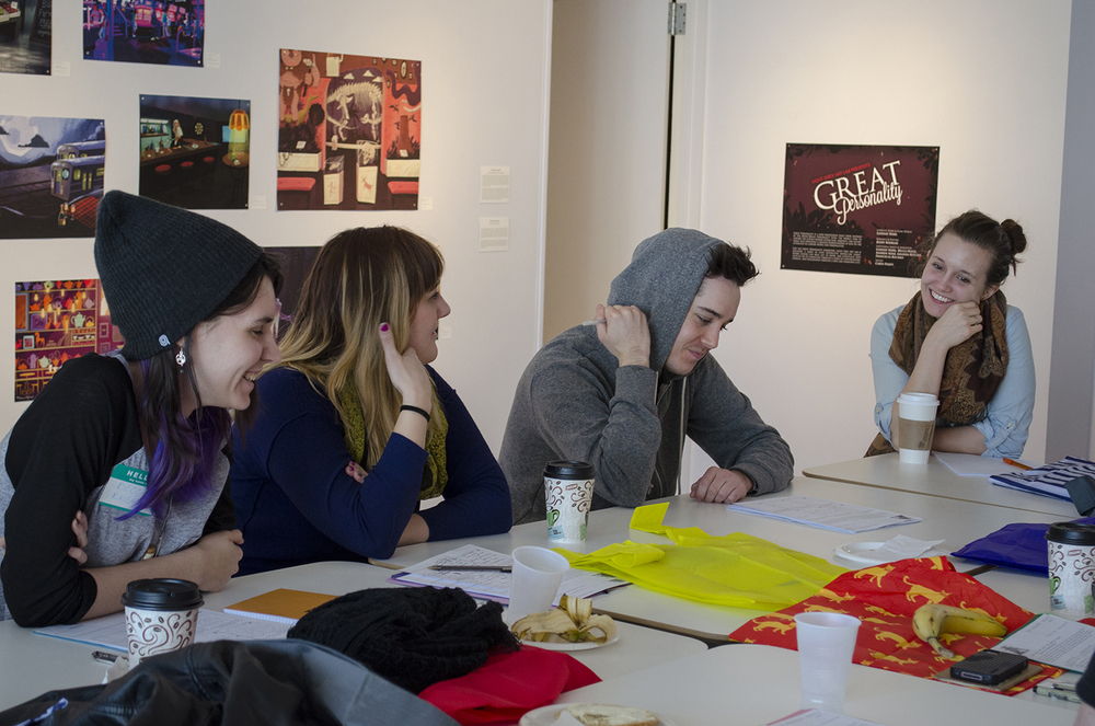 Participants worked together to brainstorm and concept for projects.