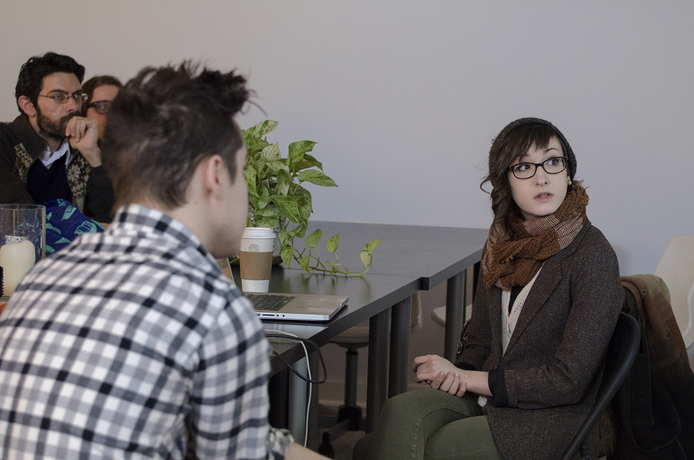 Artist talk with Teagan White.