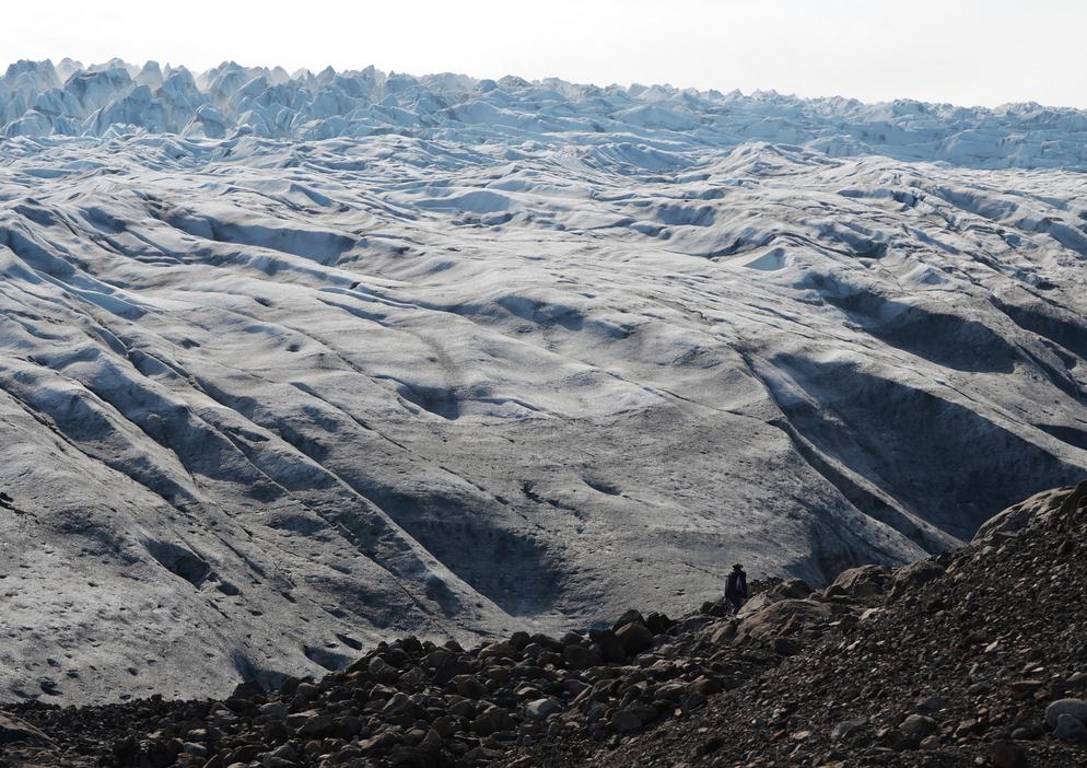 Francesca Buchko in front of one of Vatnajökull's glacial tongues