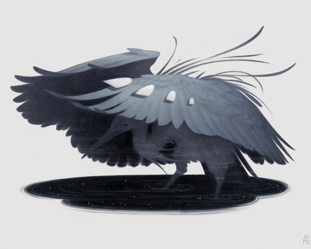"""Black Heron"" by Ashley MacKenzie"