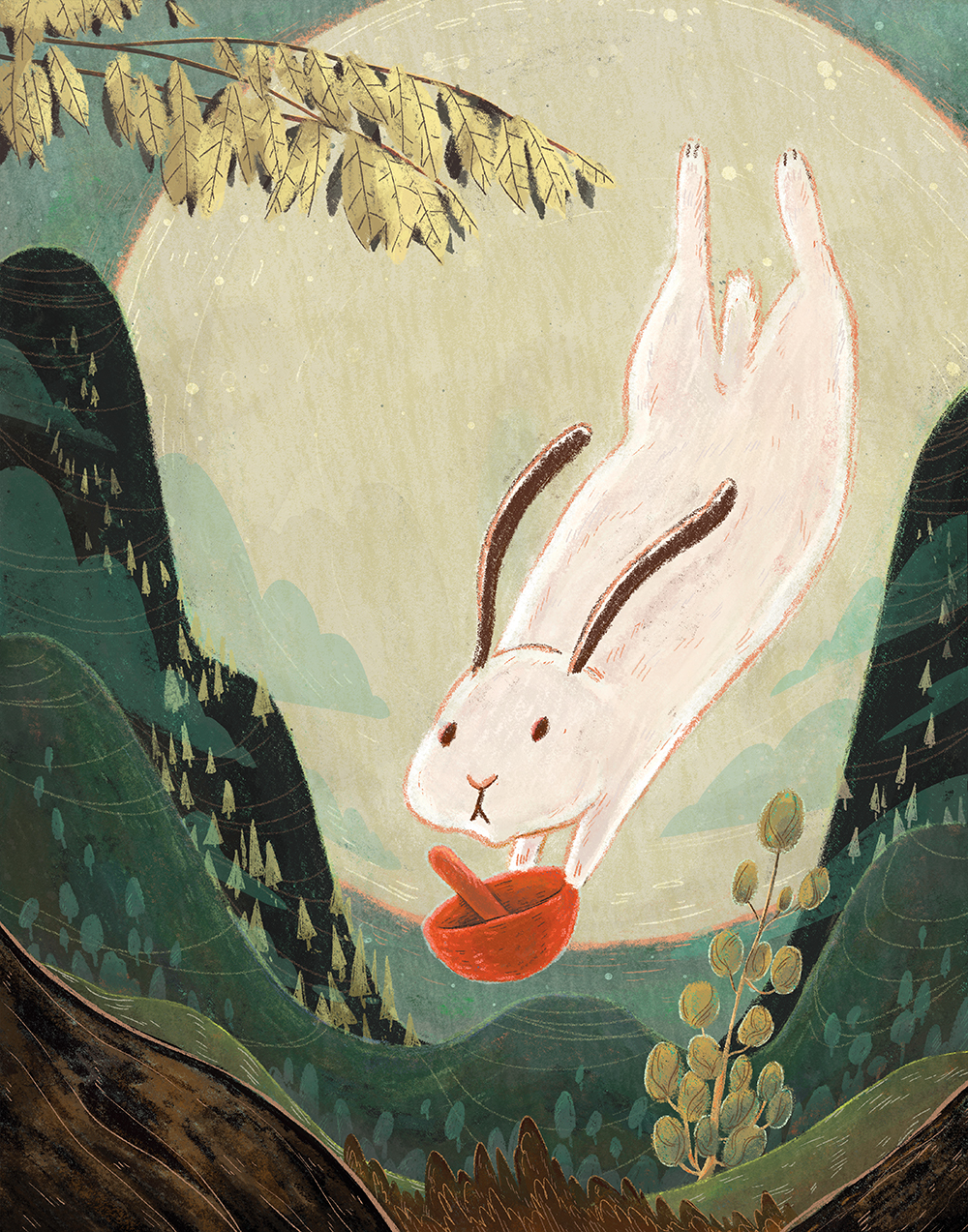 """Moon Rabbit"" by Dana Wulfekotte"