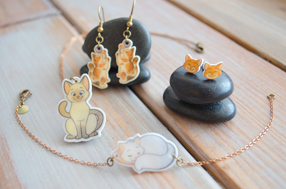 """Charm-ing Kitties Collection"" by Chelsea Kenna"