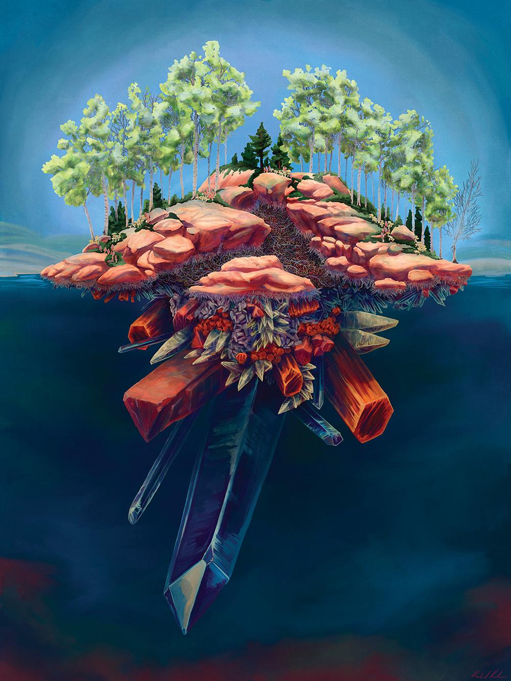 """""""Subterranean Structures"""" by Rachel Kahn"""