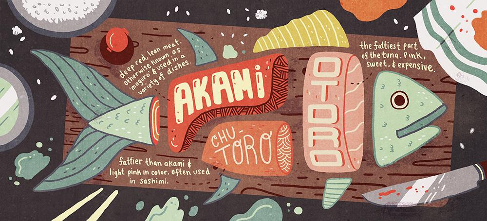 """Maguro"" by Ann Macarayan"